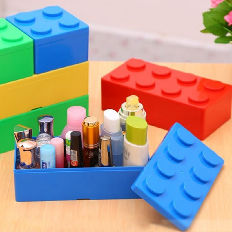 Creative Building Block Shapes Plastic Saving Space Superimposed Desktop  Handy Storage Box In Storage Boxes U0026 Bins From Home U0026 Garden On  Aliexpress.com ...