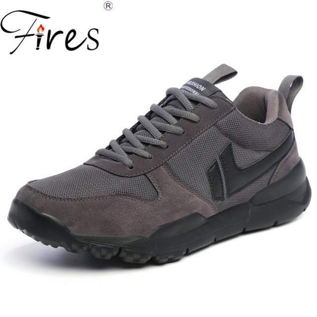 Fires Spring Men Running Sneakers 2018 Sport Shoes Comfortable Walking Shoes Black Jogging Shoes High Top Outdoor Shoes Athletic