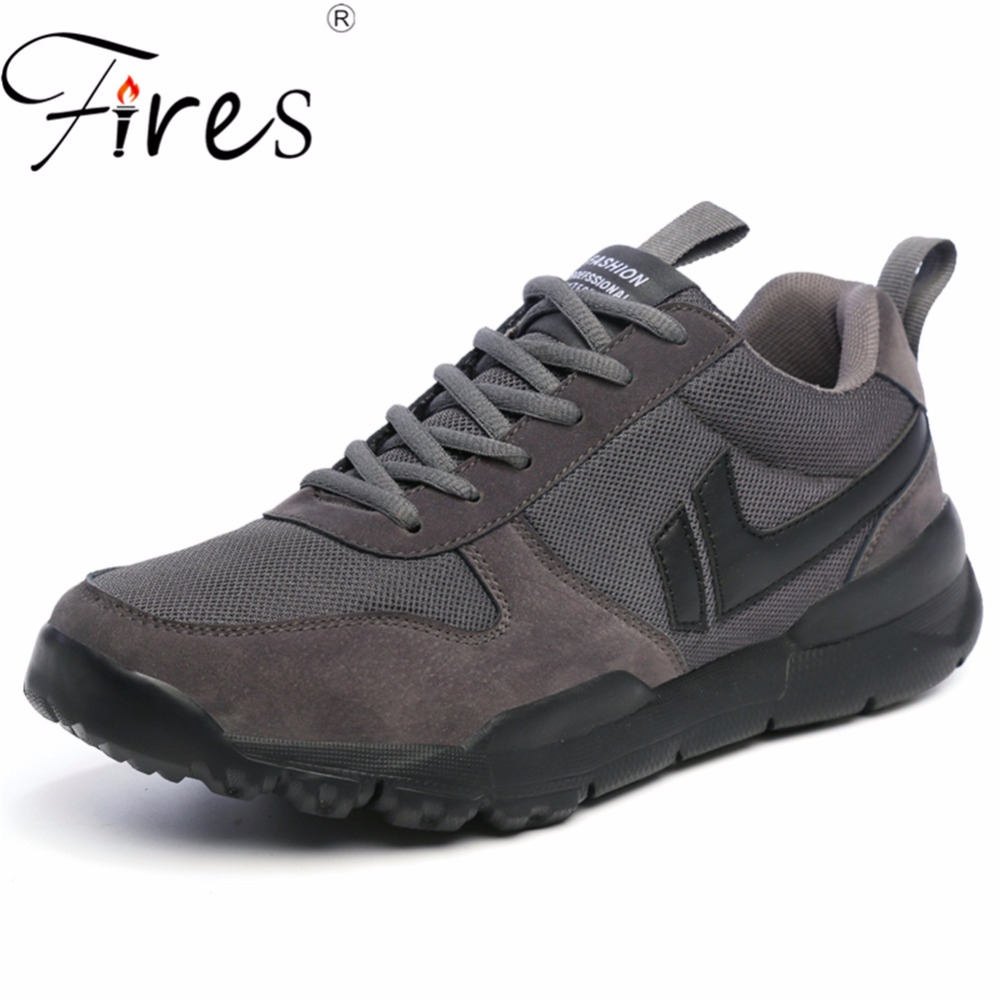 Fires Summer Men Running Sneakers 2018 Sport Shoes Comfortable Walking Shoes Black Jogging Shoes High Top Outdoor Shoes Athletic