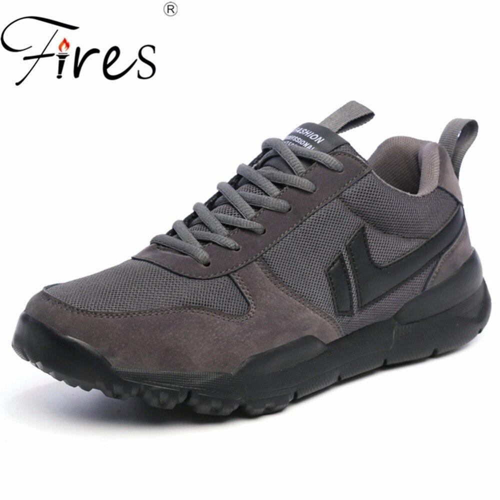 Incendies Printemps Hommes Courant des Espadrilles 2018 Sport Chaussures de Marche Confortables Chaussures De Jogging Noir Chaussures High Top En Plein Air Chaussures de Sport