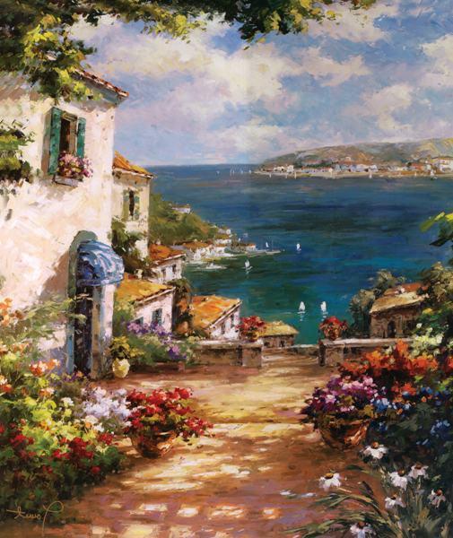 envo libre mar mediterrneo casa camino de impresin impresiones de la lona pintura al leo del