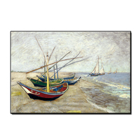 Free Shipping Abstract Boat Sea Scenery Oil Painting 100% Hand Painted Wall Canvas Art Unframed Hot Selling Paintings Bedroom