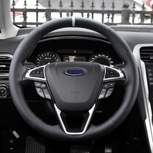 цена на ABS Chrome For Ford Edge 2015 2016 2017 Accessories Car Steering Wheel Button Frame Cover Trim Sticker Car Styling 3Pcs