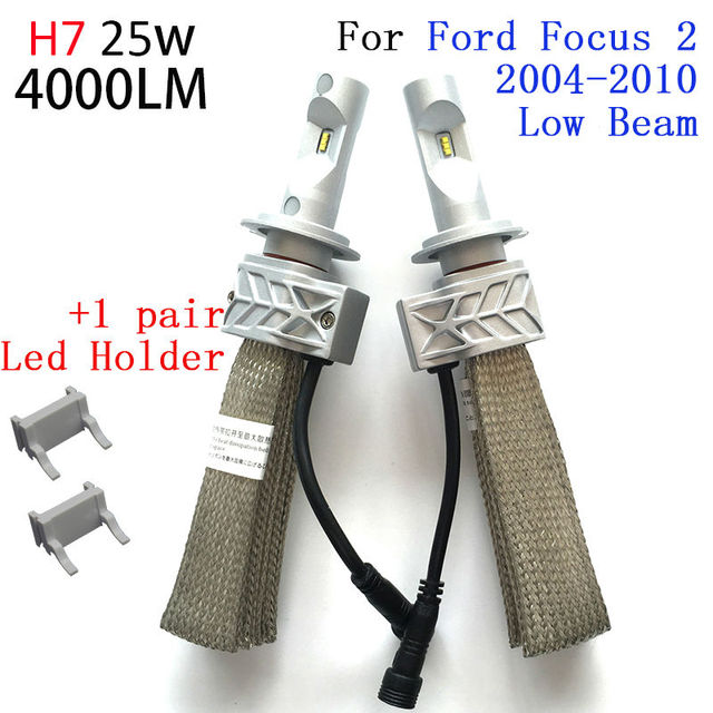 H1 H7 H8 Led Headlight Bulbs And Fog Lamps Kit For Ford Focus 2 Mk2 High Beam Low Light 2004 2005 2006 2007 2008 2009