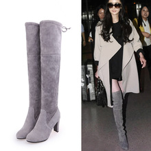 2017 Autumn And Winter European New Pattern Women's Shoes Solid Color Bow High With Back Chalaza Overknee Woman Boots