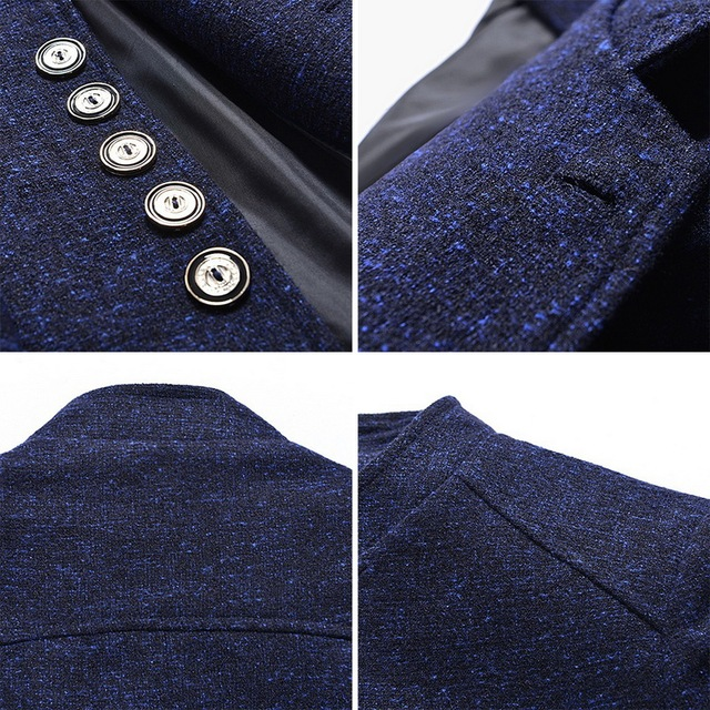 NIBESSER 2018 Vintage Blazer Men 2018 Plus size Chinese style Business Casual Stand Collar Male Blazer Slim Mens Blazer Jacket