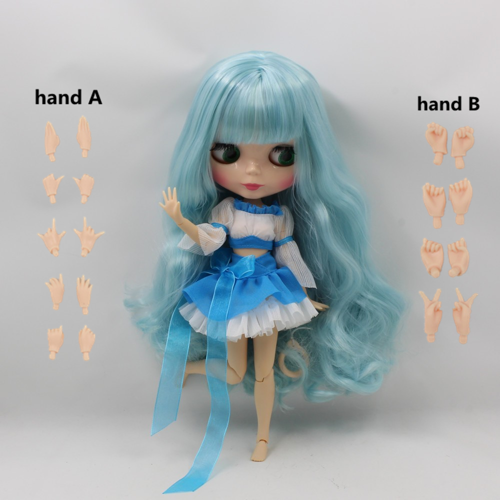 Toys & Hobbies Dolls & Stuffed Toys Responsible Fortune Days Nude Blyth Doll No.280bl6005/4006 Blue Mixed Hair With Bangs Joint Body Flesh Color Skin Factory Blyth