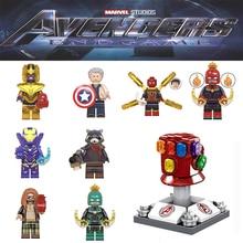 Hot going Marvel Endgame Avengers 4 Minifigs Thor Iron Man War Machine super heroes Building Blocks toys gift JM241