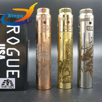 Update ROGUE mod 18650/20700 Battery Spring button Mechanical mod Laser engraving pattern mod with 510wire 810 drop oil atomizer