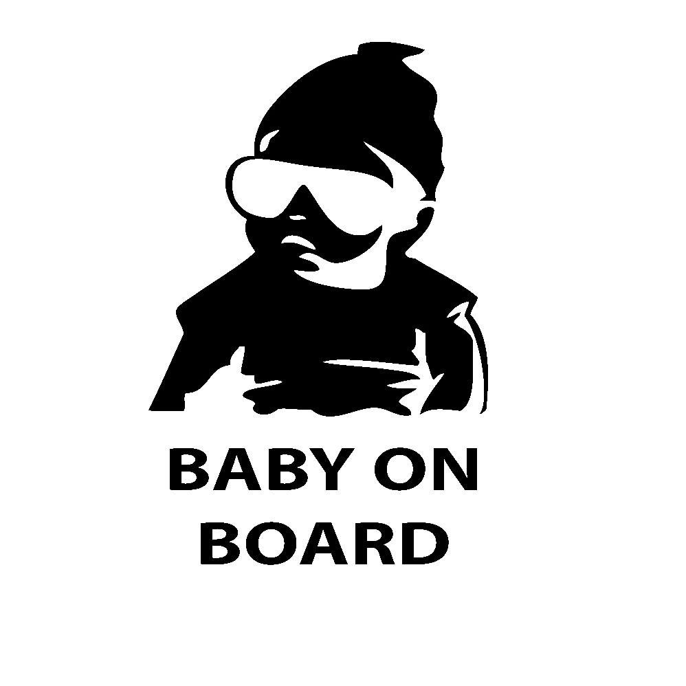 Baby on Board  Silver EASY REMOVE Car Decals Removeable Sticker Window Sticker