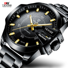 купить TEVISE Brand Mens Mechanical Watches Luminous Automatic Watch Men Luxury Business Wristwatch Waterproof Clock Relogio Masculino дешево