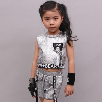 Niños Jazz Dace traje chica traje de la danza de Hip Hop calle moderna  danza traje Stes etapa rendimiento ropa del desgaste de la danza 90 8777182bbb4
