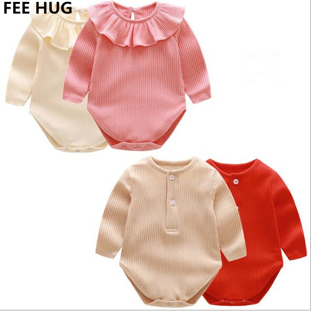 11e70d0a12a 2018 Spring Newborn Rompers Peter Pan Collar Knitted Princess Jumpsuits Toddler  Girls Baby Boys Overalls Kids Outfits Clothes