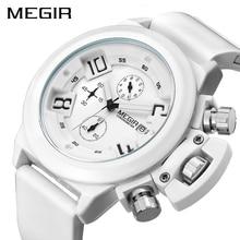MEGIR Mode Männer Sport Uhr Silikon Chronograph Quarz Armee Uhren Uhr Relogio Masculino Herren Armbanduhren mit Uhr Box