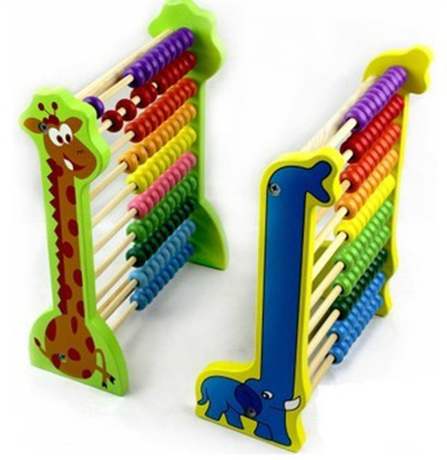 New wooden toy Elephants, giraffes Abacus frame abacus math educational toys childrens Free shipping