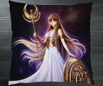 Saint Seiya Saori Kido Athena Goddess Fanart 40*40 см Двусторонняя Наволочка Чехол для подушки Чехол косплей подарок кровать/диван/Декор автомобиля новый 2