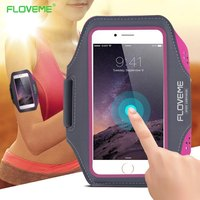 FLOVEME Sport Arm Band Case For Samsung Galaxy S8 S7 S6 Edge S5 Universal For Below 5.5 Inch Moblie Phones Touch Gym