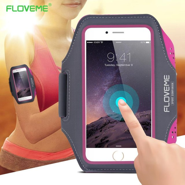 pretty nice 75767 b2a5b US $4.24 15% OFF|FLOVEME Sport Arm Band Case For Samsung Galaxy S8 S7 S6  Edge S5 Universal For Below 5.5 Inch Moblie Phones Touch Gym -in Armbands  ...