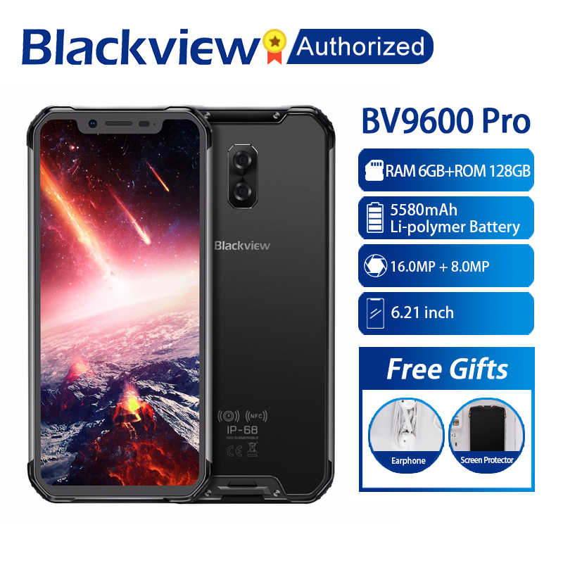 "Blackview a BV9600 Pro IP68 móvil impermeable Helio P60 Octa core 6GB RAM 128GB ROM 6,21 ""AMOLED Android 8,1 Smartphone MT6771"