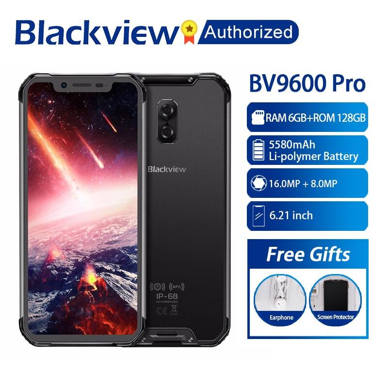 Blackview BV9600 Pro IP68 Waterproof Mobile Helio P60 Octa core 6GB RAM 128GB ROM 6.21 AMOLED Android 8.1 Smartphone MT6771