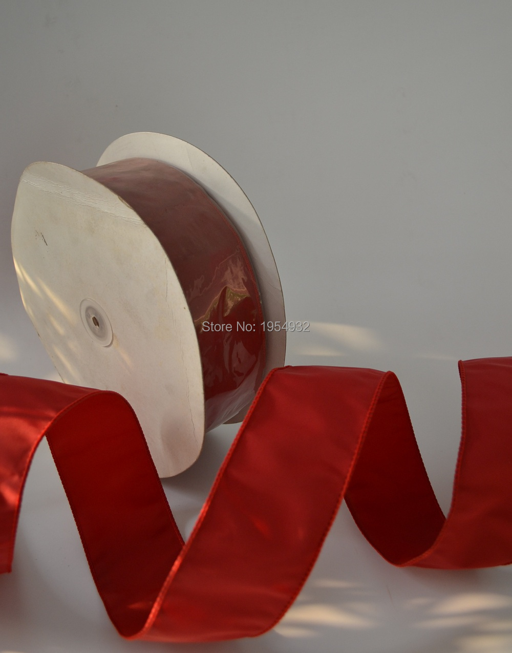 63mm 2 5 Chrismtas Red metallic gift packaging wired edge ribbon 100 Yard lot China Red