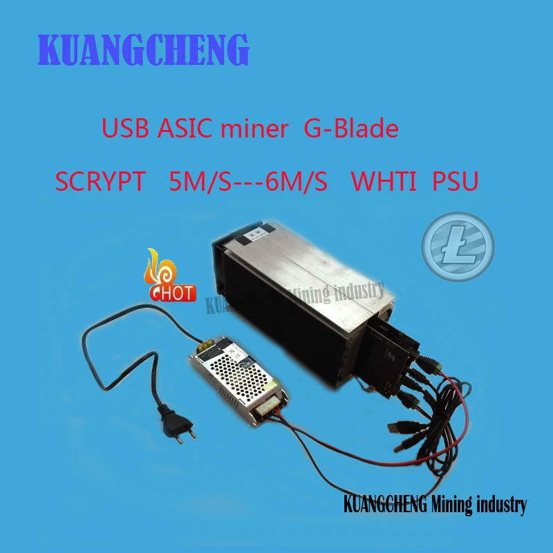 KUANGCHENG Mining Industry Ltc Miner Gridseed Blade G-Blade Scrypt Litecoin ASIC Miner 5.2~6Mh/s Asic Miner Litecoin Miner + PSU
