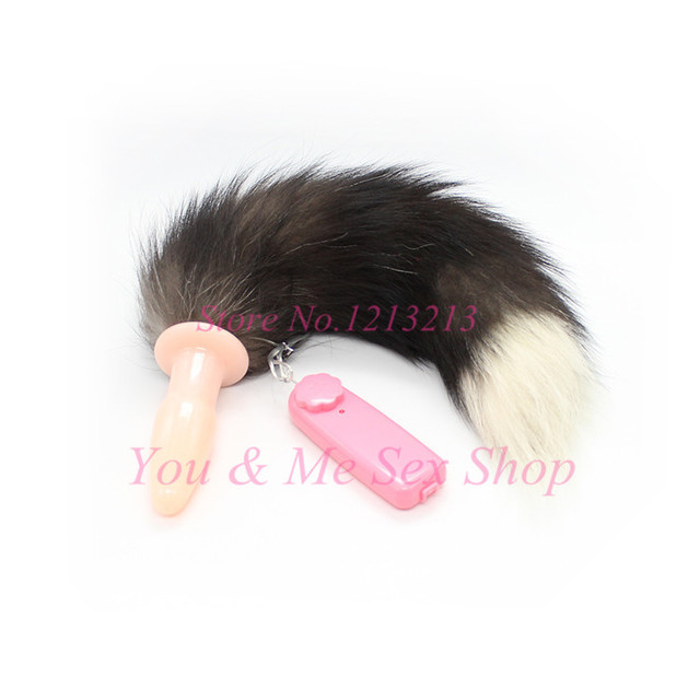 2015 New Fox Tail Anal Plug, Vibrating Butt Plug, Anal Vibrator Sex Toys,Novelty Anal Sex Toys, Sex toys for men and women.