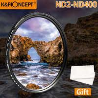 K&F CONCEPT Adjustable ND2 to ND400 ND Lens Filter 37MM 55MM 58MM 62MM 67MM 72MM 77MM 95MM Slim Fader Variable Neutral Density