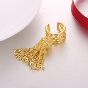 Image 5 - Женское кольцо с короной и кисточками, роскошное Королевское регулируемое кольцо с фианитом высшего качества, AR014