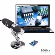 2MP 1000X 8LED USB Digital Microscope Endoscope Zoom Video Magnifier +Stand