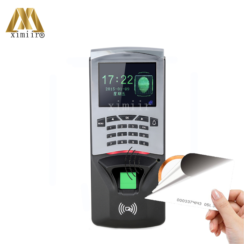 2.8inch Color Screen Biometric TCP/IP Fingerprint Access Control And Time Attendance Fingerprint And RFID Card Access Controller tcp ip fingerprint time attendance color screen 2000 user time attendance fingerprint password rfid card time atteendance