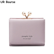 UR BOURSE Womens PU Leather Coin Purse Ladies Small Mini Wallet Female Short Girls Large Capacity Card Bag Holder