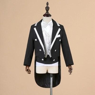 Gentleman Garçons ensembles de vêtements Enfants Survêtements 5 pièces Arc + Chemise + gilet + Smoking Manteau + Ceinture costume formel Ensemble Enfants outfit Costume