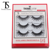 Thinkshow 5 Pairs Fake Eyelash Handmade Lash Fashion Makeup Fake Lash 3D Russia Individual Korean Nature