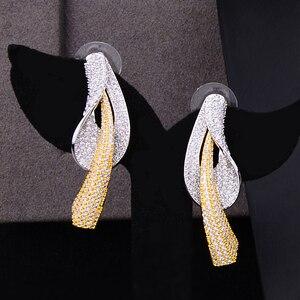 Image 4 - GODKI Beroemde Merk Bloem Lariat Chokers Luxe Nigeriaanse Dubai Sieraden Sets Voor Vrouwen CZ Zirkoon Wedding Bridal Sieraden Sets 2019