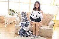 stuffed toy pillow 3D coloured cartoon animal koala,cat ,dog,plush toy zipper closure soft throw pillow birthday gift b1388