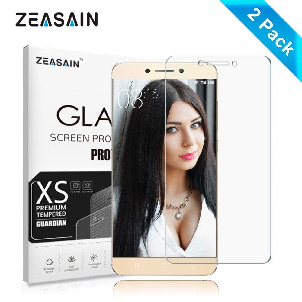 [2 Pacote] original zeasain hd limpar 2.5d premium vidro temperado protetor de tela para película de segurança vidro leeco le 2 pro letv le2