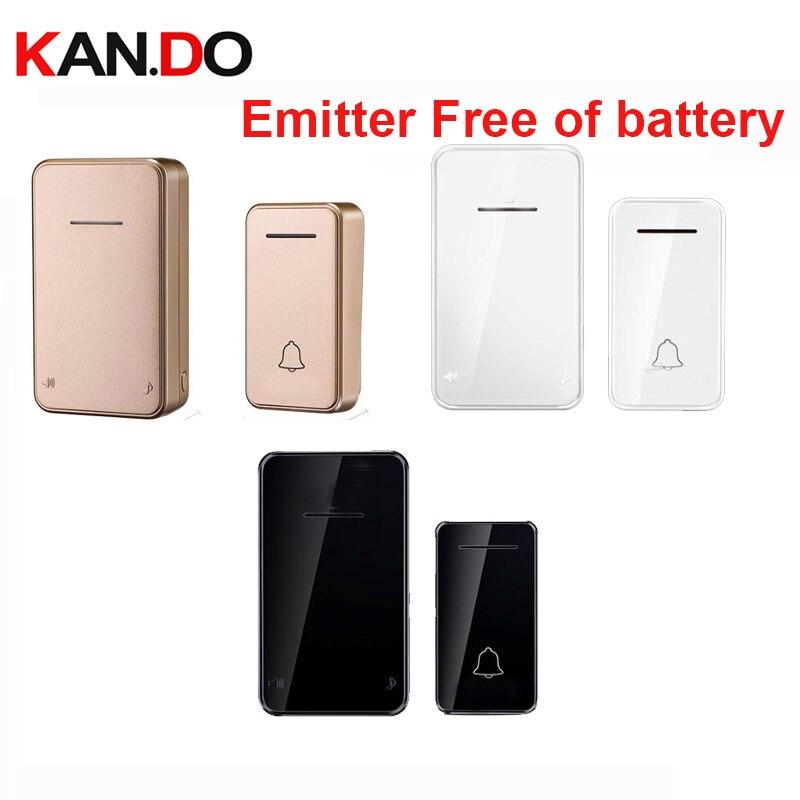 Emitter Free Of Battery Bell Sets Wireless Door Bell Set By 110-220V Wireless Doorbell Ip44 200M Door Chime Door Ring For Villa