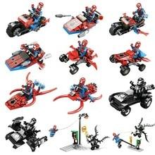 KAZI 60011 Building Blocks 6 IN 1 Super Hero Spiderman  Action Figure Brinquedos Bricks Educational Toys for Children цена