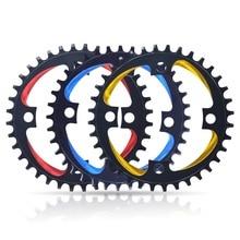 TRUYOU Round Shape Narrow Wide 34T/36T/38T 104BCD MTB Chainring Bike Circle Crankset Single Plate 7075 alloy Bicycle Chainwheel цены