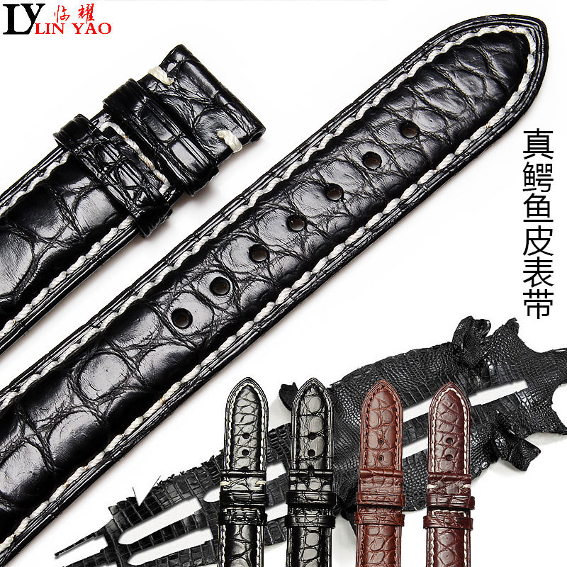 Crocodile Leather Strap Leather For Seiko Watch And Nomos Watch Metal Watch Accessories, Men 22 Mm 20 Mm 18mm