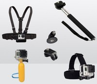 Gopro Accessories Monopod Tripod Float Bobber Chest Belt Set For Gopro Hero 4 Session 3 SJ4000