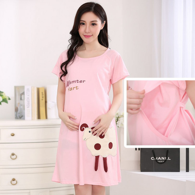 Cute Nursing Dress Clothes Breastfeeding For Pregnant -6283