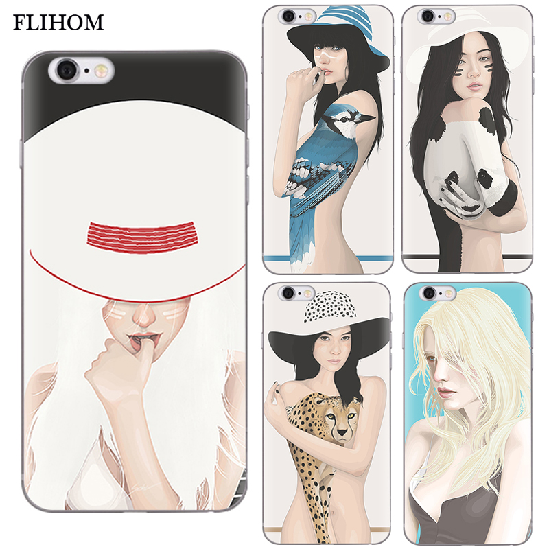 <font><b>Phone</b></font> <font><b>Cases</b></font> for <font><b>iphone</b></font> <font><b>5s</b></font> SE <font><b>Case</b></font> <font><b>Silikon</b></font> for <font><b>iphone</b></font> X Sexy Girl Print Shell Soft TPU <font><b>Phone</b></font> Cover For <font><b>iPhone</b></font> 8 For <font><b>iphone</b></font> 7 6s