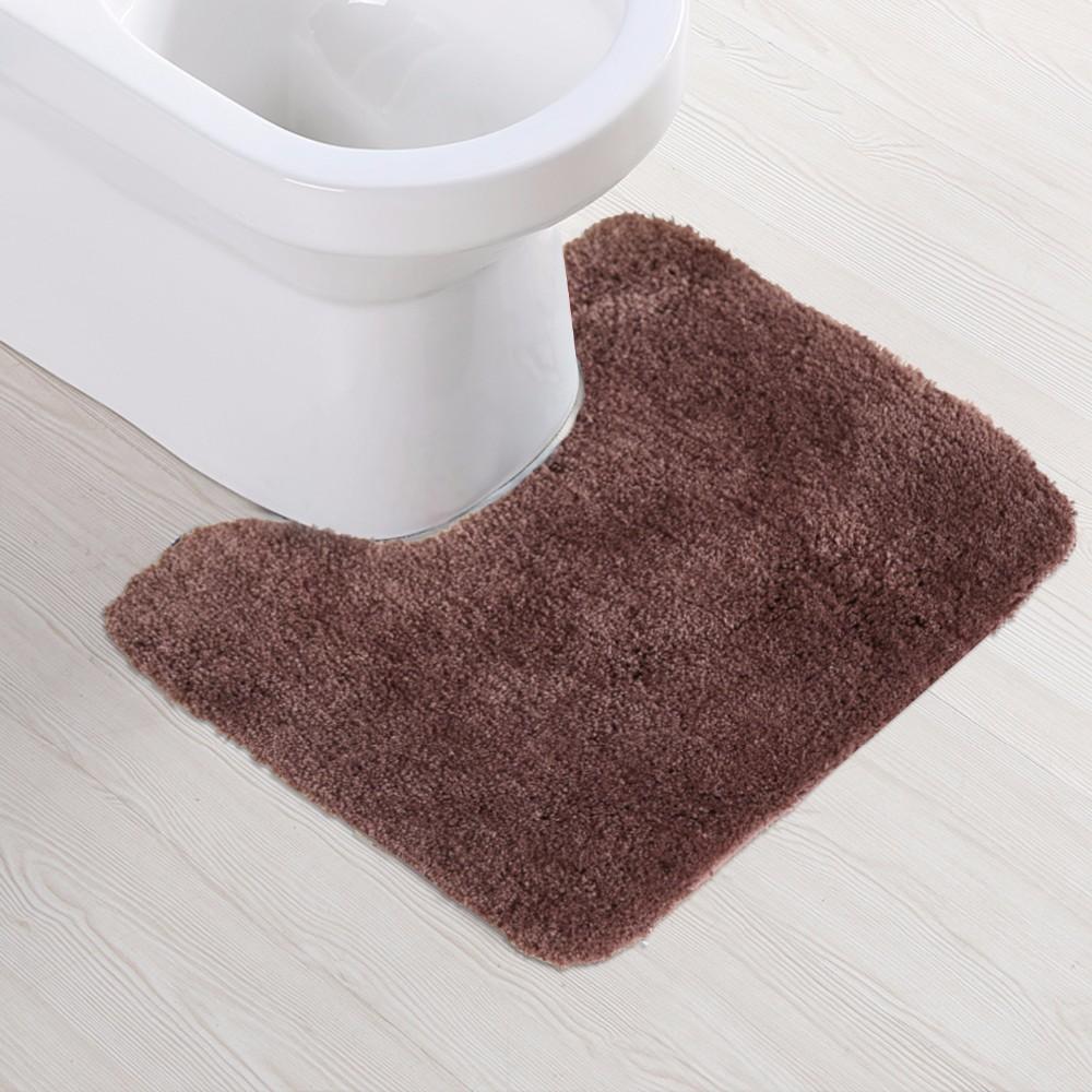 Bathroom Toilet Rug Brown