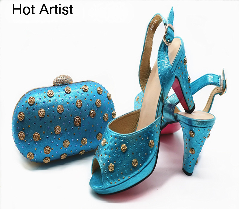 Artiste Femmes light Talons dark Sac Style Red Fête or Robe Pu Italien Bleu Haute Cuir Green Rivet Avec Pour Chaude Ensemble En Chaussure La G51 Et Chaussures D'été rZ6xqSrF
