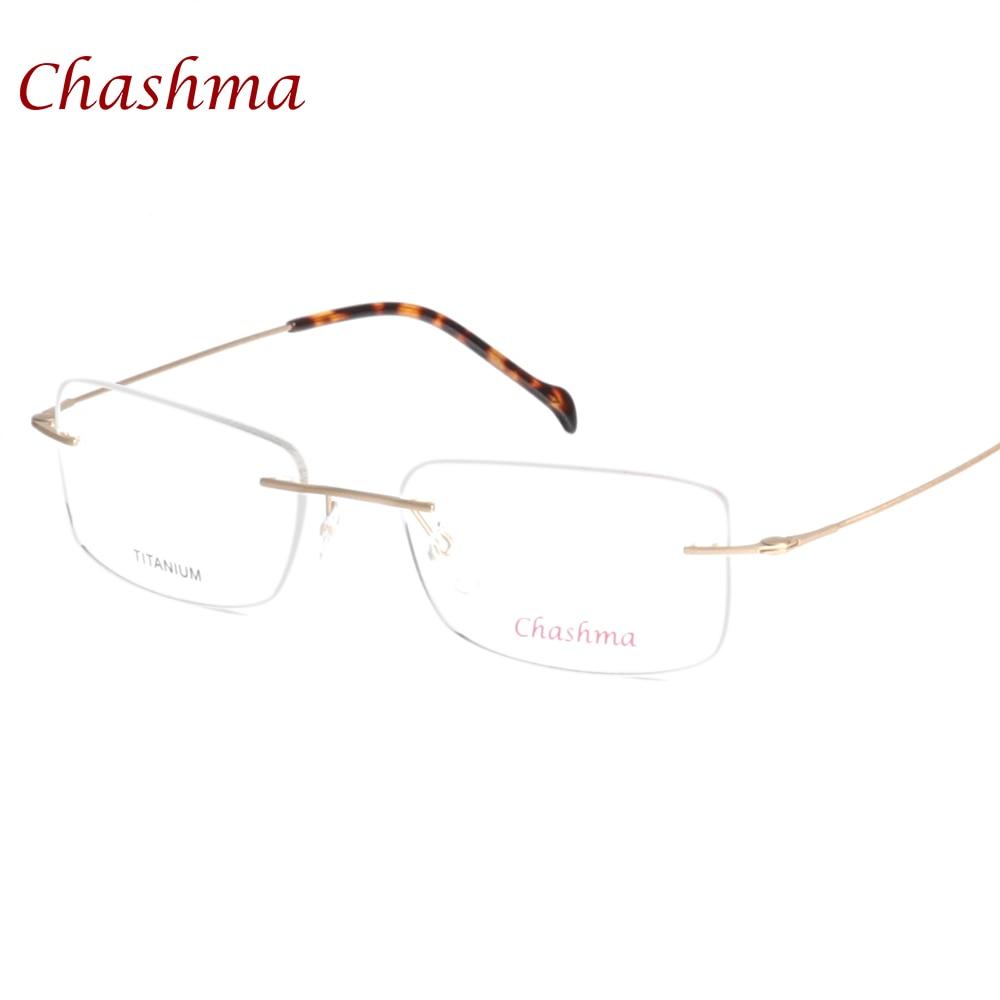 Chashma Marca de Óculos Óculos de Qualidade Superior Masculino de Titânio  Puro Armações de Óculos Sem 25cc4e4cc9