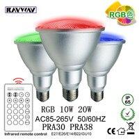 RAYWAY Senior Dimmable LED Spotlight E27 AC 85 265V PAR30 PAR38 RGB LED Bulb RAYWAY Senior