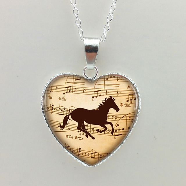 2015 new glass necklaces pendants music horse heart pendant horse 2015 new glass necklaces pendants music horse heart pendant horse jewelry horse necklace glass heart necklace aloadofball Gallery