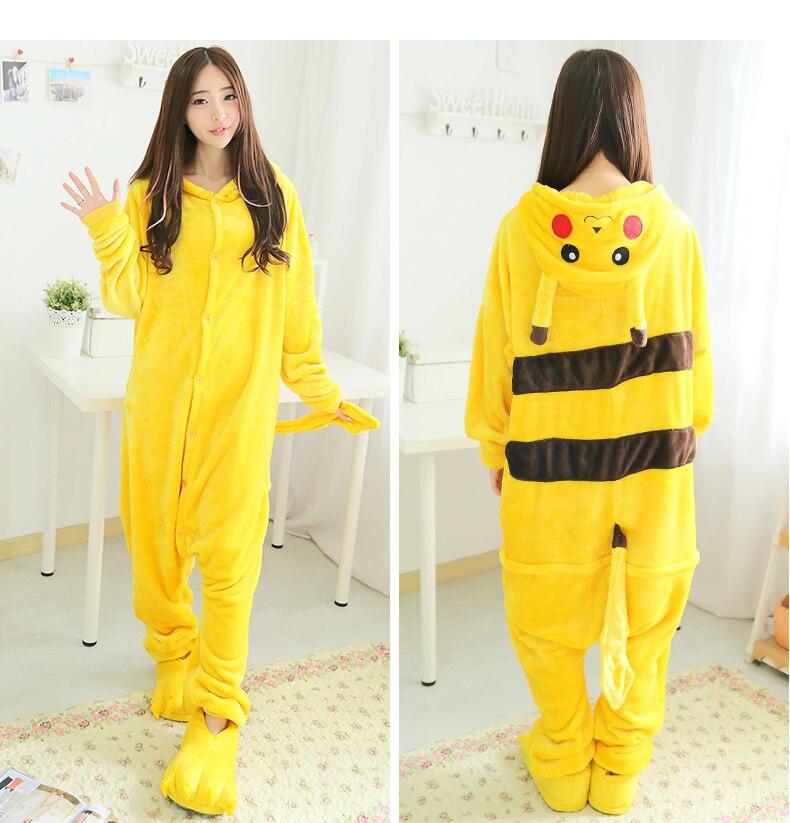 9a6a04a2ed Adulto mujer hombre Halloween Cosplay disfraz Pokemon Onesies disfraz Pikachu  pijamas Cosplay pijamas ropa de dormir invierno una pieza en Disfraces  anime ...